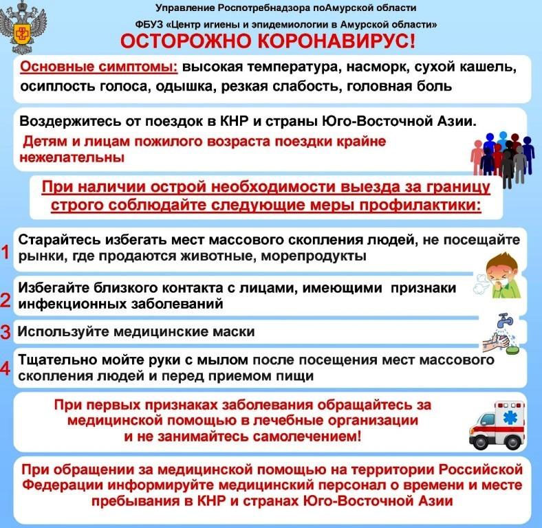 памятка профилактика коронавирусной инфекции 23 января